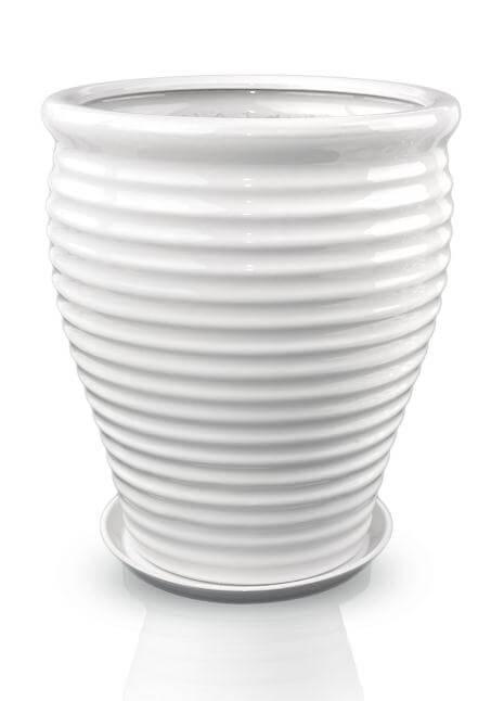 Donice ceramiczne wysokość  43; 47; 51 cm, z podstawkiem, komplet 3 sztuki