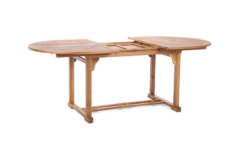Meble ogrodowe drewniane  owal  6+1