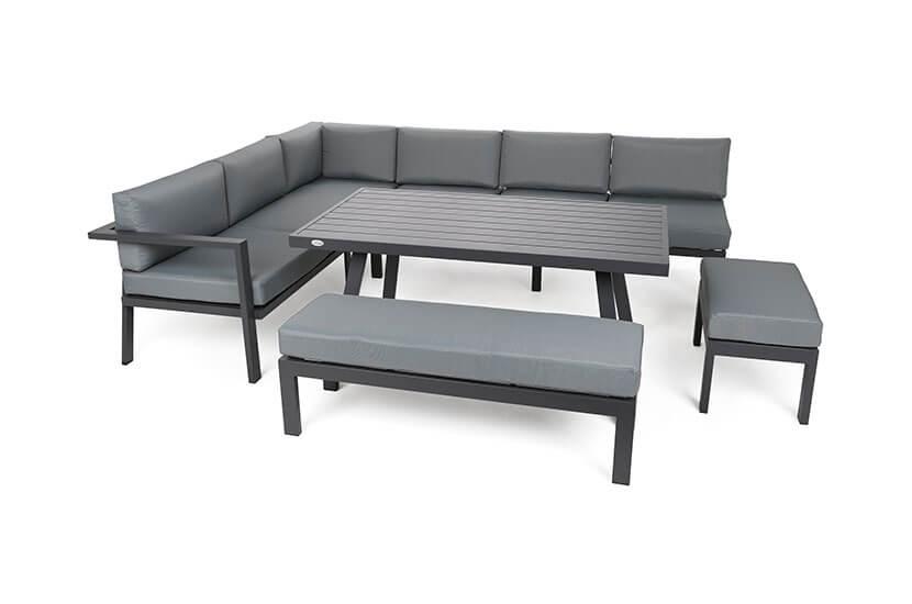 Zestaw narożny Corsyca Grey Mat/ Grey