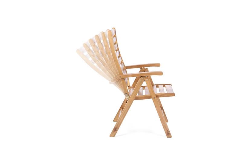 Krzesło ogrodowe drewniane składane wielopozycyjne
