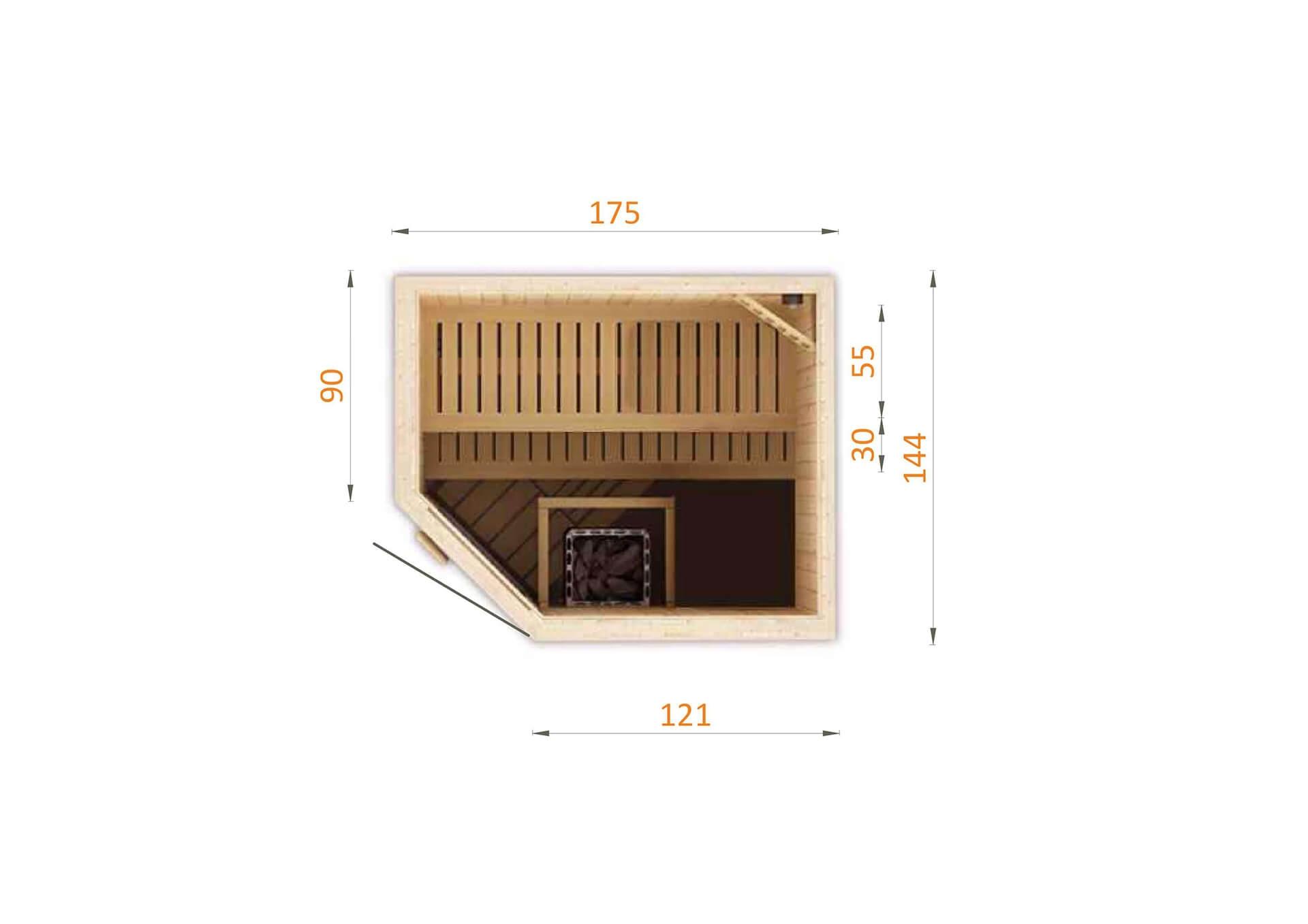 Sauna fińska 1815EW0