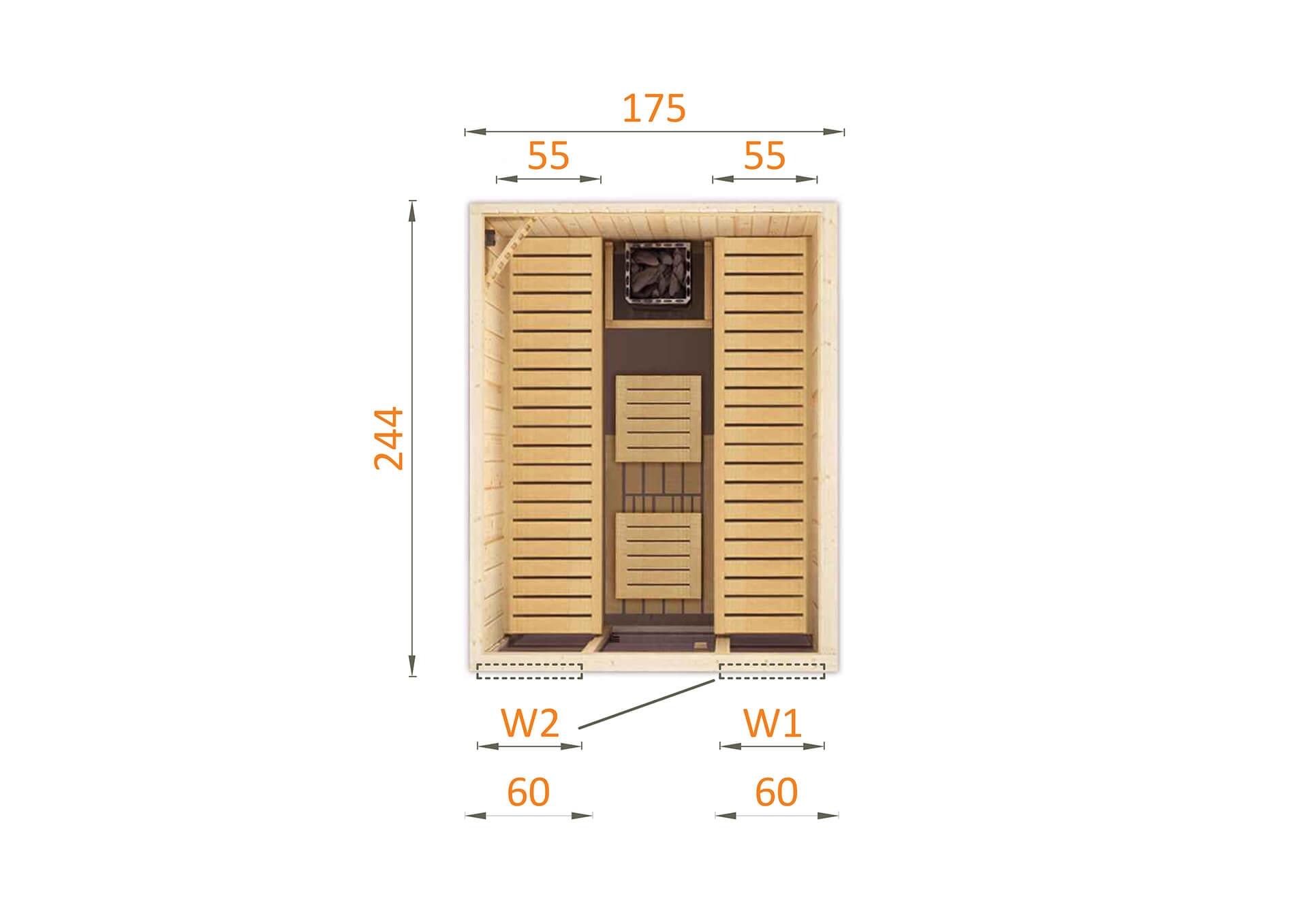 Sauna fińska 1825TW2