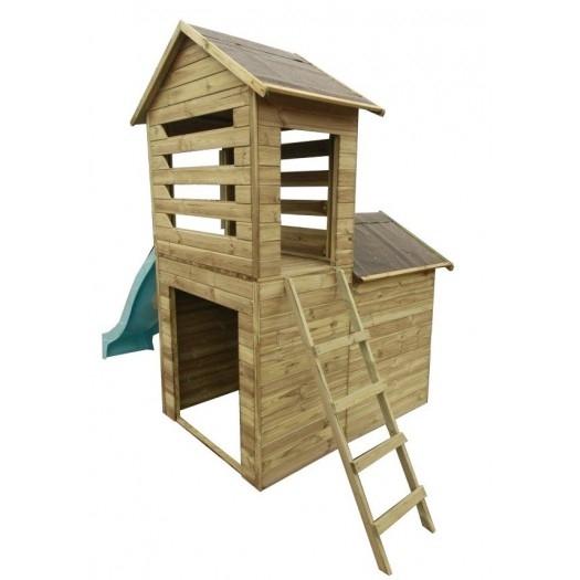 Drewniany domek ogrodowy dla dzieci - Misiek