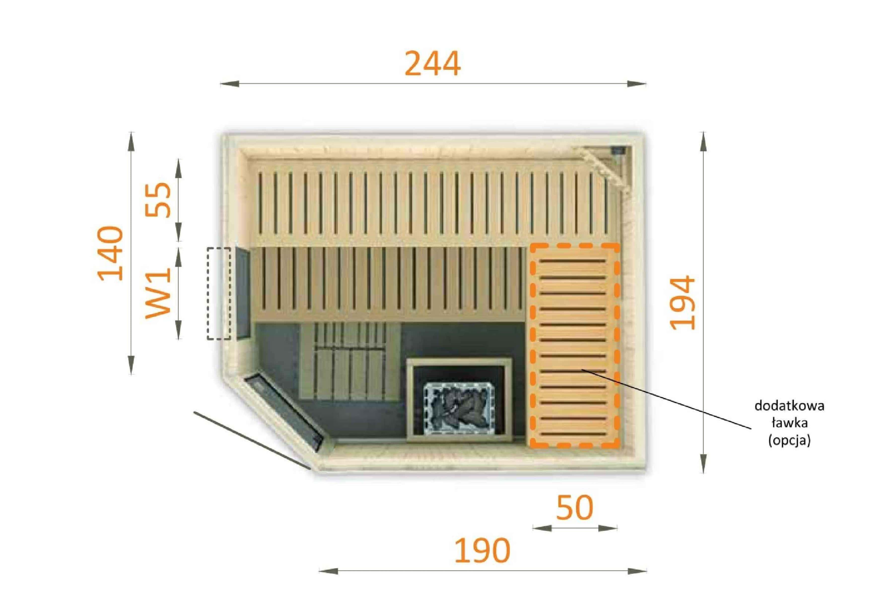 Sauna fińska 2520EW1