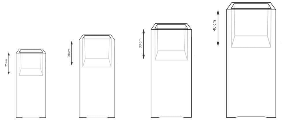 Donica Fiberglass 60x28 cm kolor na zamówienie