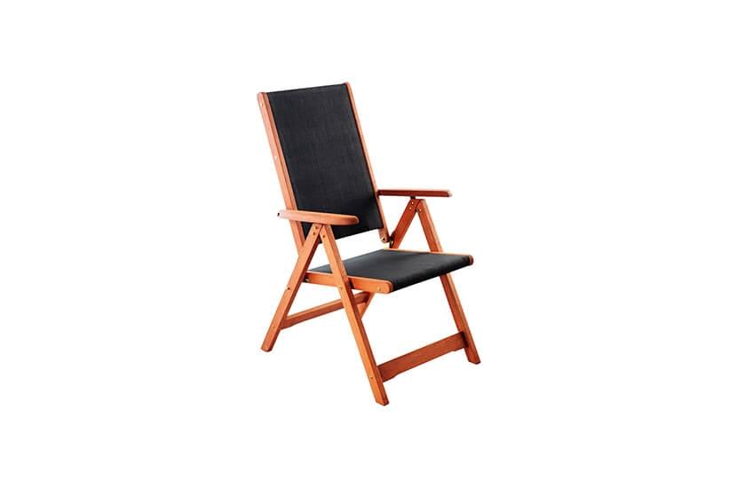 Krzesło ogrodowe drewniane Meranti Black
