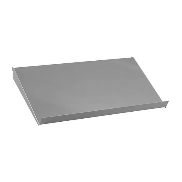 Półka metalowa pochyła Biała 598x348x75 mm