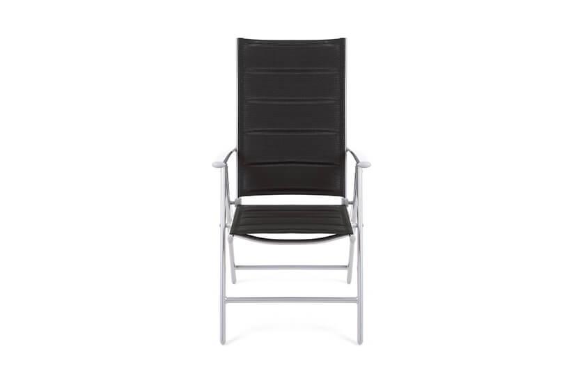 Krzesło ogrodowe aluminiowe Safari silver/black