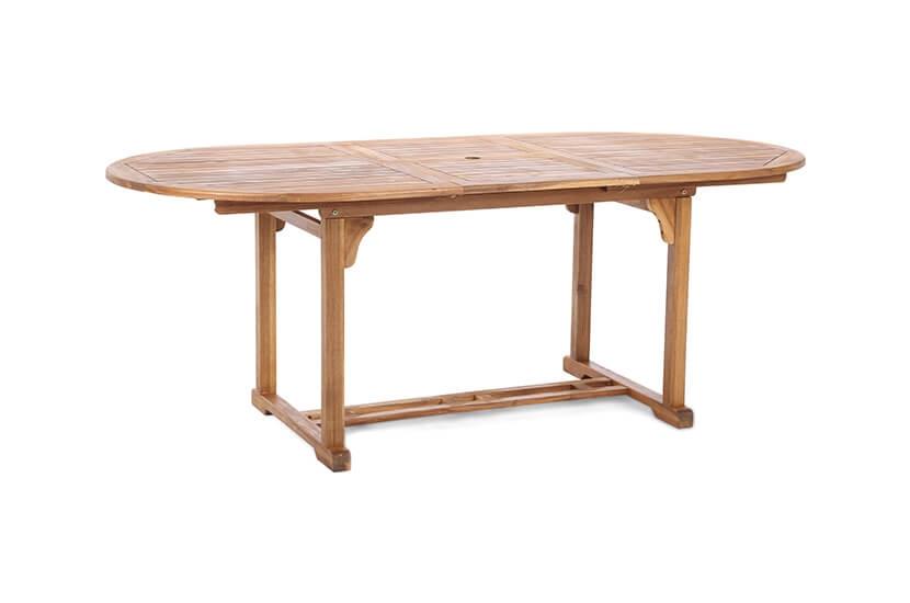 Meble ogrodowe drewniane  owal  6+1 z barkiem