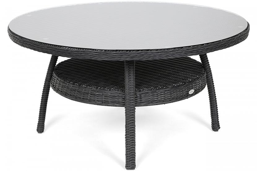 Meble ogrodowe technorattanowe Ikar Round 150 cm Grey / Grey Melange 6+1