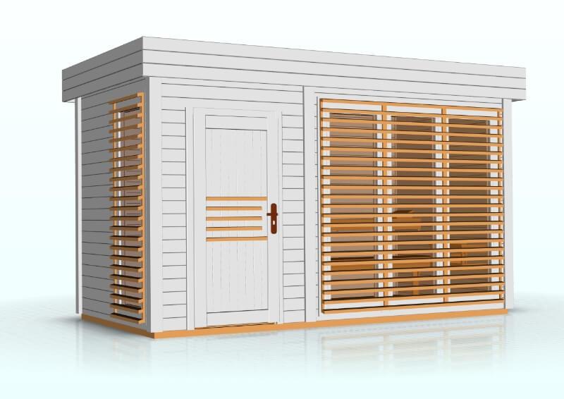 Sauna zewnętrzna-ogrodowa Azalia 4x2 m