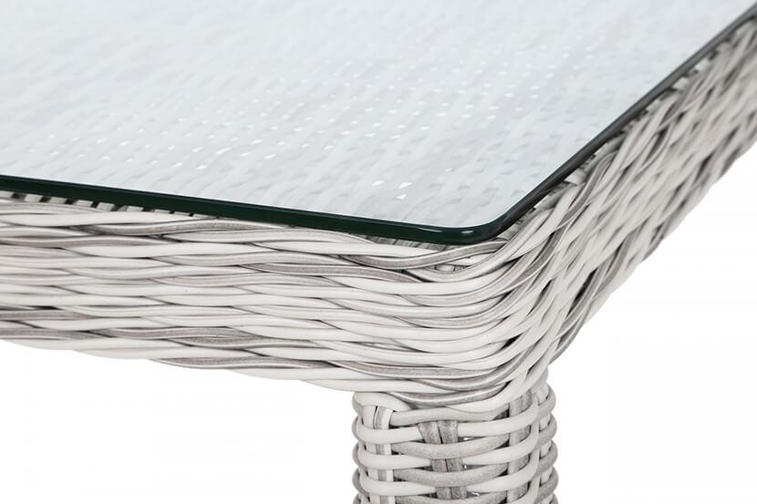 Meble ogrodowe technorattanowe Ikar 230 cm Light Grey / Grey Melange 8+1