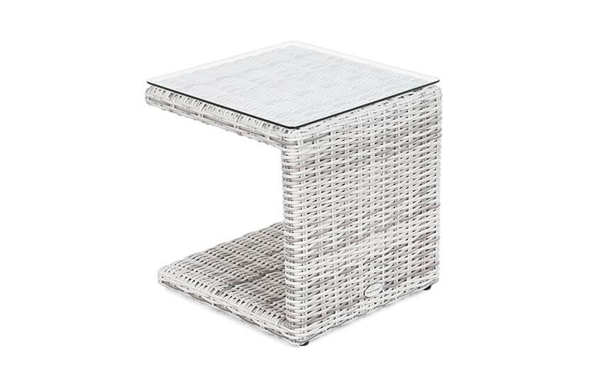 Leżaki ogrodowe COSTA  Light Grey/Grey ze stolikiem