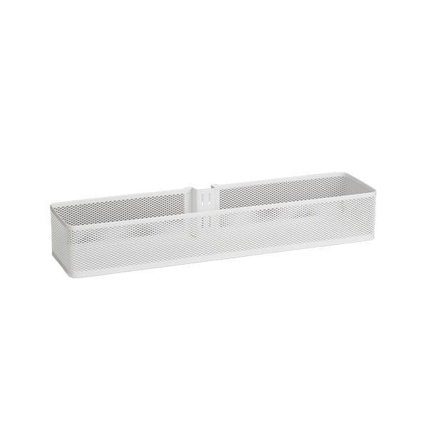 Kosz Mesh średni na szynę pionową   Biały 74x106x435  mm