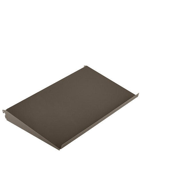 Półka metalowa pochyła 598x348x75 mm   Grafit