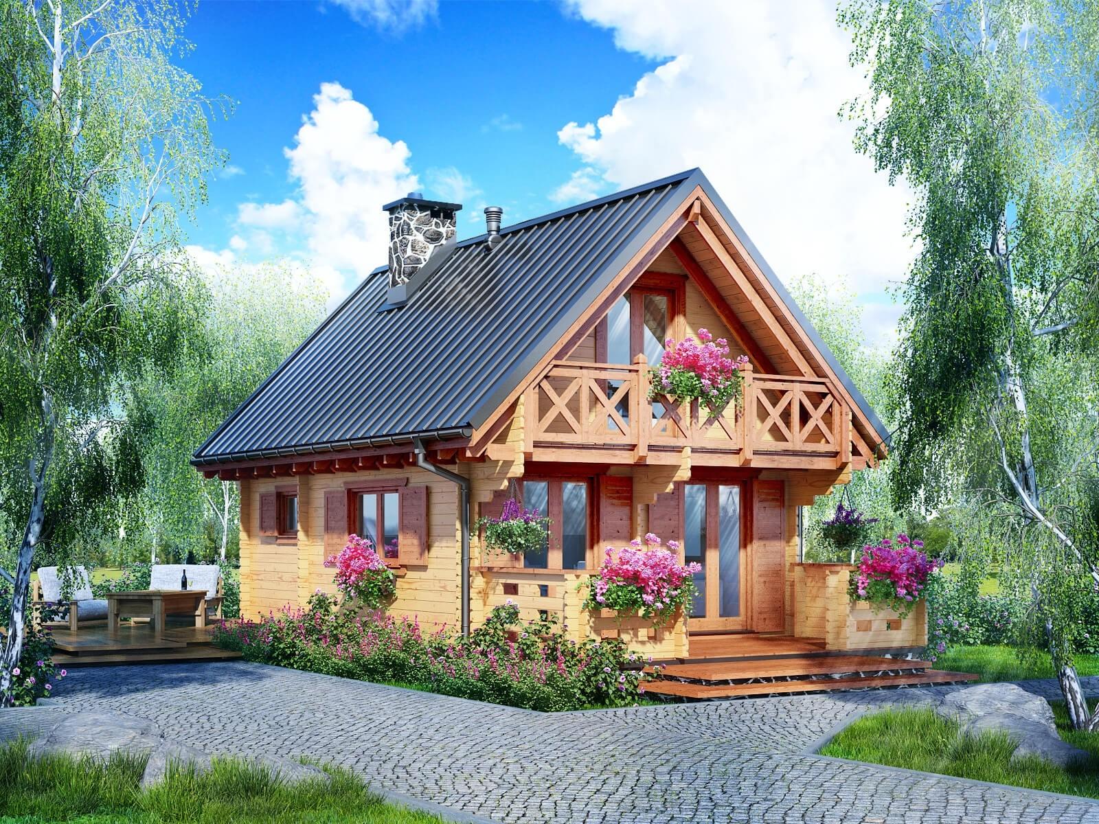 Drewniany domek letniskowy Wiedeń