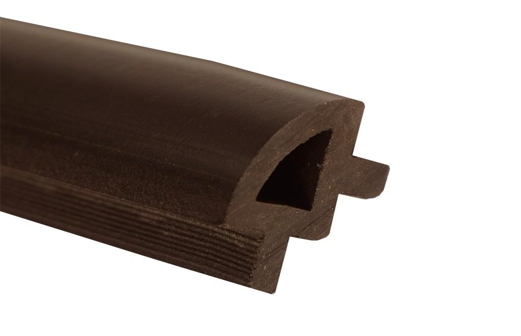 Ćwierćwałek WPC - ciemny brąz(24x34x2400)