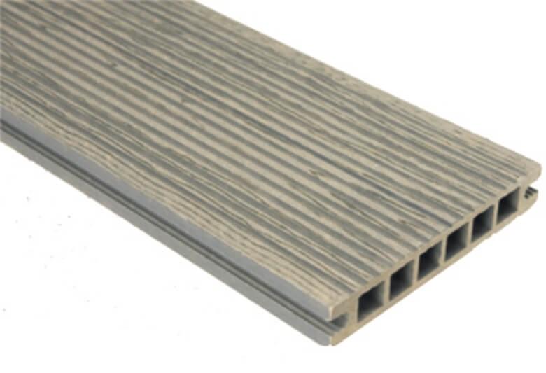 Deska szlifowana-deseniowana – grafit – wąski rozstaw 2400x140x22 mm