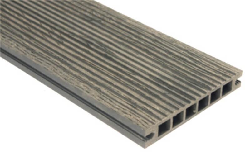 Deska szlifowana-deseniowana – ciemny brąz – wąski rozstaw 3600x140x22 mm