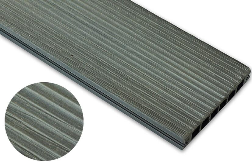 Deska szczotkowana – grafit – wąski rozstaw  3600x140x22 mm