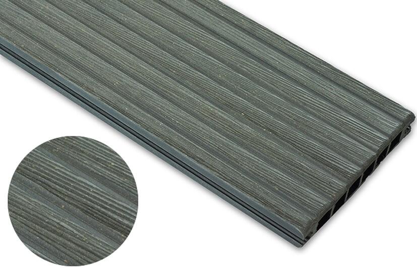 Deska szczotkowana – grafit – szeroki rozstaw 3600x140x22 mm