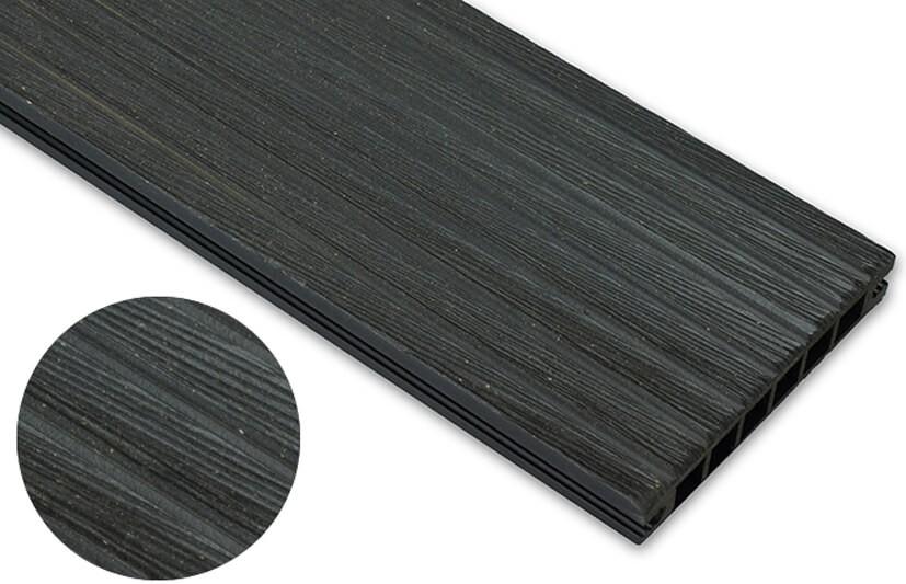 Deska szczotkowana – antracyt – szeroki rozstaw 3600x140x22 mm