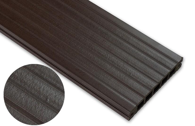 Deska standard – ciemny brąz – szeroki rozstaw 3600x145x24 mm