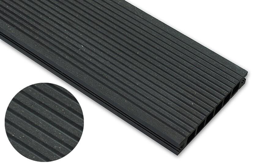 Deska szlifowana – antracyt – wąski rozstaw 2400x145x24 mm