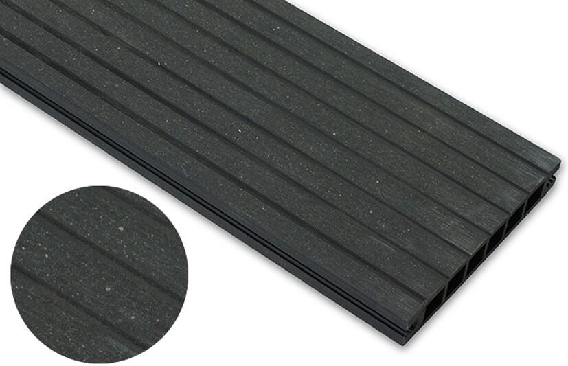 Deska szlifowana – antracyt – szeroki rozstaw 2400x140x22 mm