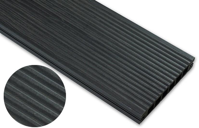 Deska deseniowana – antracyt – wąski rozstaw 2400x145x24 mm