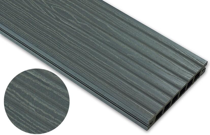 Deska deseniowana – grafit – szeroki rozstaw 3200x140x22 mm