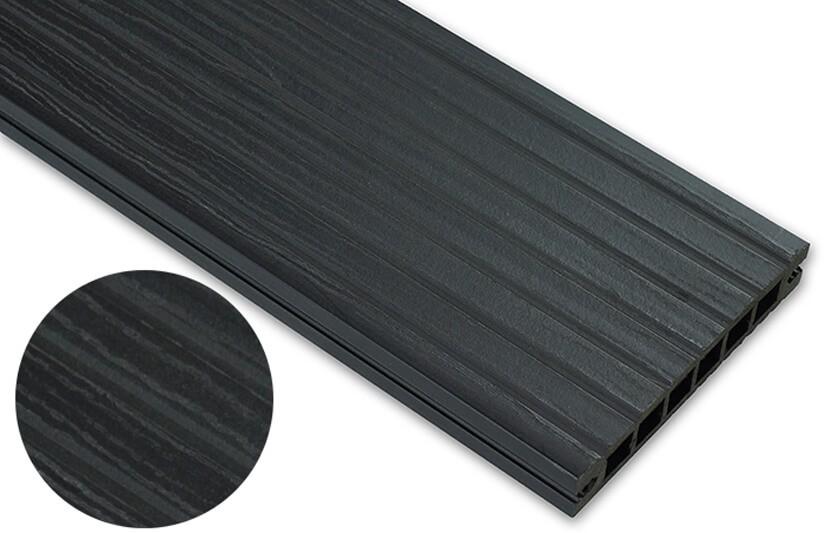 Deska deseniowana – antracyt – szeroki rozstaw 3200x140x22 mm