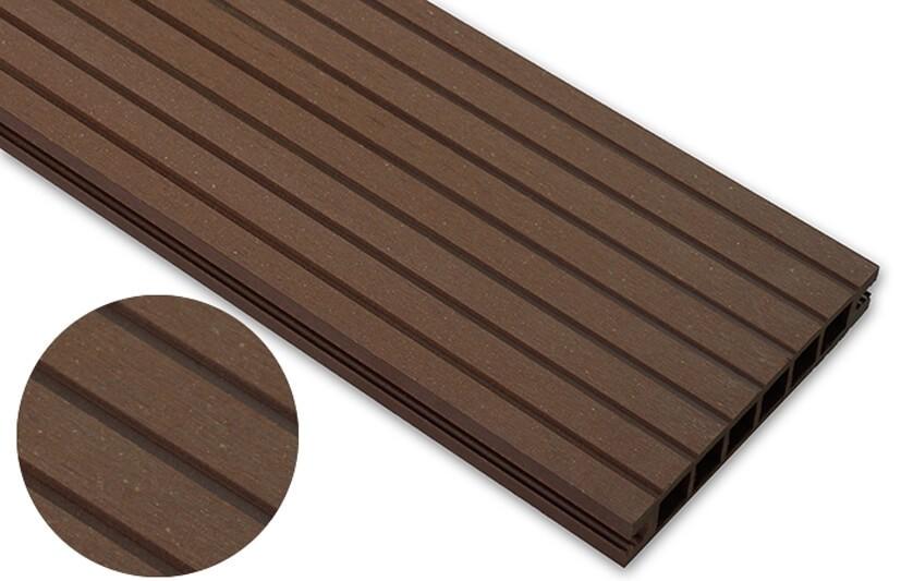 Deska szlifowana- jasny brąz – szeroki rozstaw 2400x140x22 mm