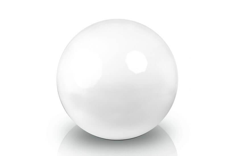 Ekskluzywna kula dekoracyjna 400 x 400 mm Fiber decoball white
