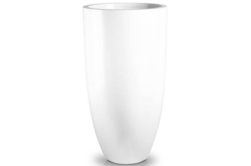 Donica Fiberglass  white, wysokość 100 cm, średnica 55 cm
