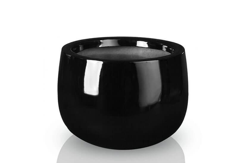 Donica Fiberglass bowl black, średnica 34 cm, wysokość 23 cm