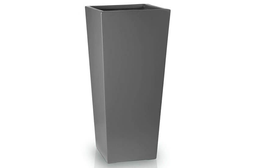 Donica Fiberglass kamila graphite, średnica 27 cm, wysokość 58 cm