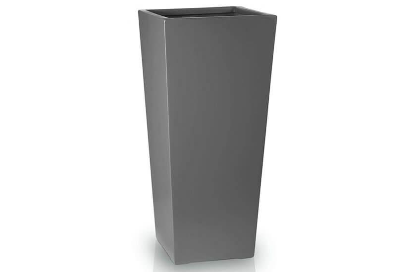 Donica Fiberglass kamila graphite, średnica 30 cm, wysokość 67 cm
