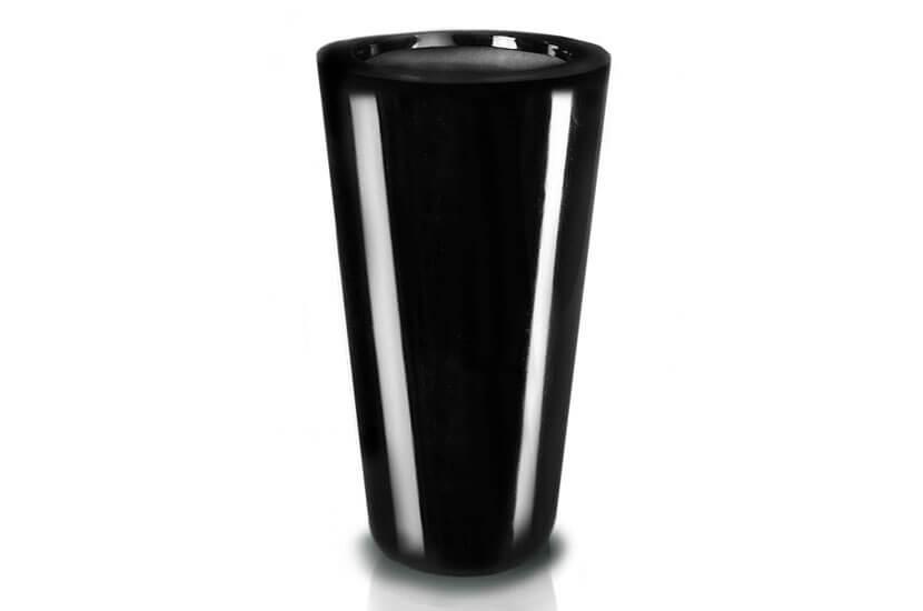 Donica Fiberglass cone - black, wysokość 92 cm, średnica 44 cm