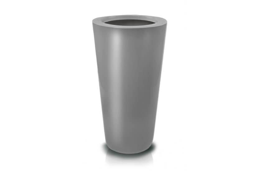 Donica Fiberglass cone - graphite, wysokość 62 cm, średnica 33 cm