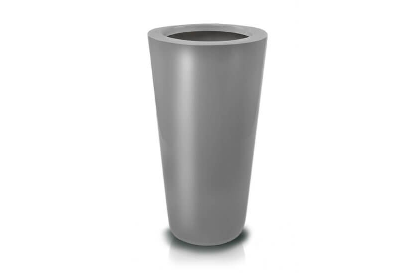 Donica Fiberglass cone - graphite, średnica 38 cm, wysokość 72 cm