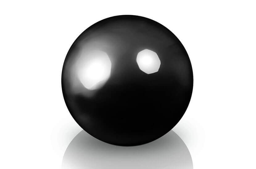 Ekskluzywna kula dekoracyjna 400 x 400 mm Fiber decoball black
