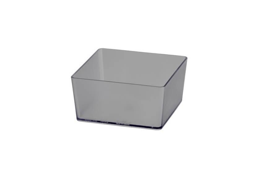 Pudełko kwadratowe transparentny - 48x98x98 mm Elfa