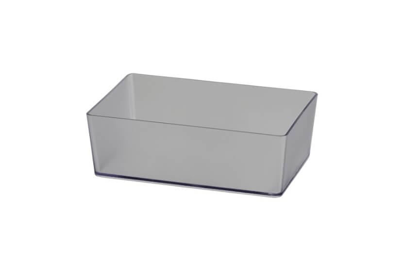 Pudełko prostokątne transparentny - 48x98x147 mm Elfa