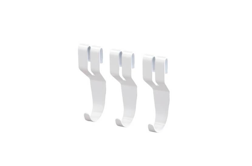 Wieszak do półki ażurowej biały - 81x30x23 mm Elfa