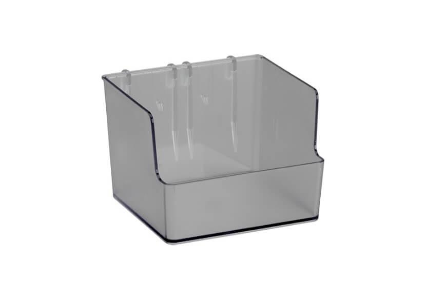 Pudełko wysokie do organizatora Elfa transparentny - 80x110x112 mm