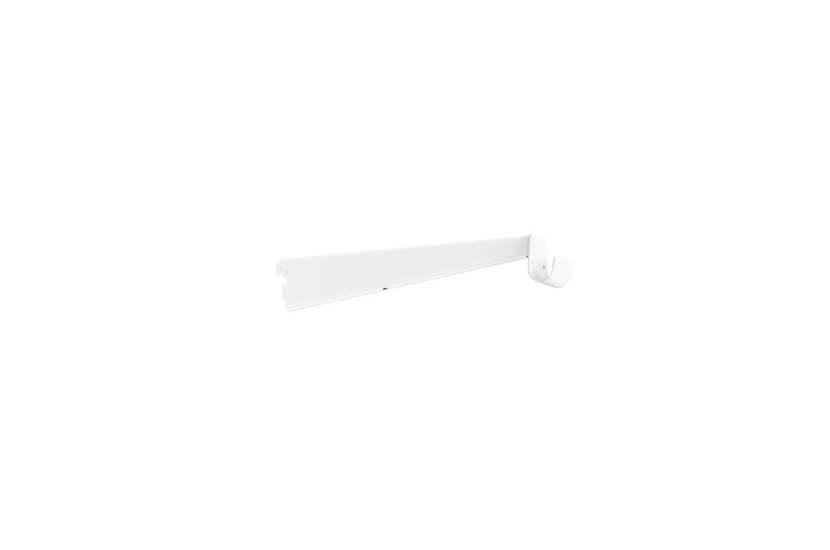 Wspornik z uchwytem do drążka biały - 55x13x320 mm Elfa