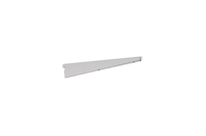 Wspornik półki obcej z otworem na uchwyt drążka -  kolor platinum - 61x13x370 mm Elfa