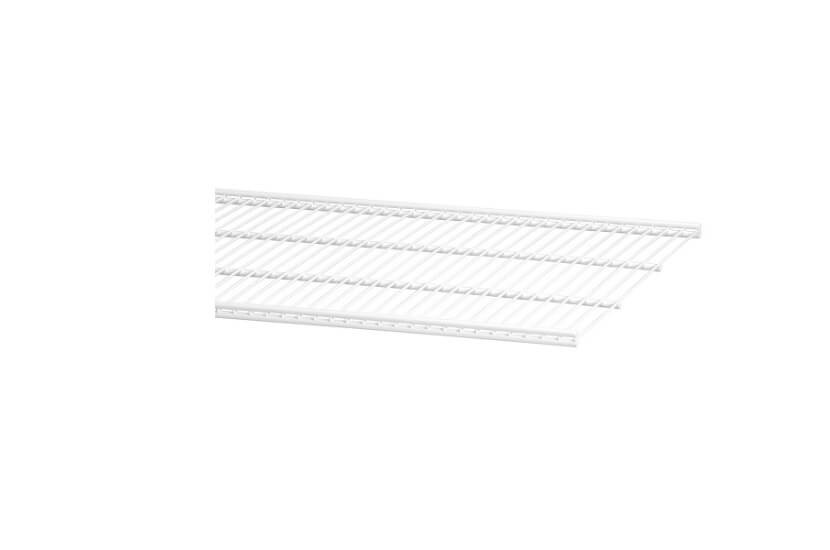 Półka ażurowa 40 kolor biały szerokość 604 mm, głębokość 405