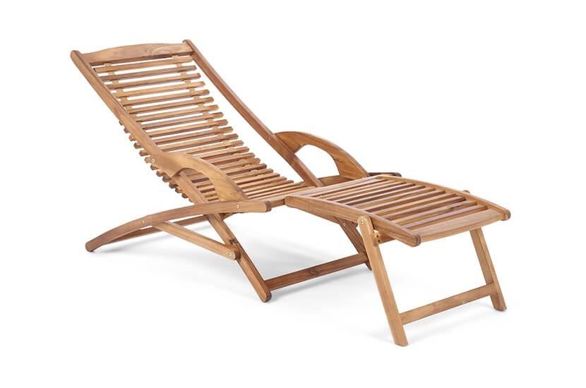 Leżak ogrodowy drewniany, składany